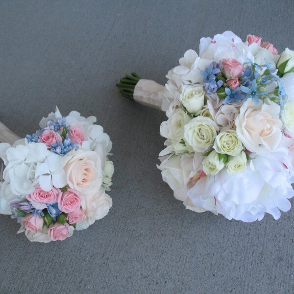 Wedding Bouquet Quotes: White With Baby Pink Roses