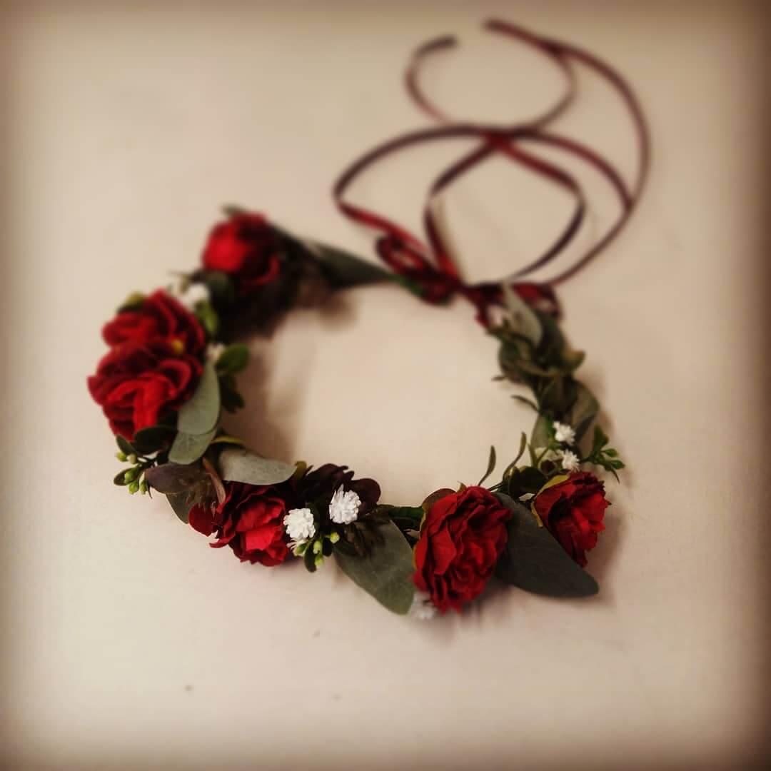 Red Flower Crown Keepsake Bouquets