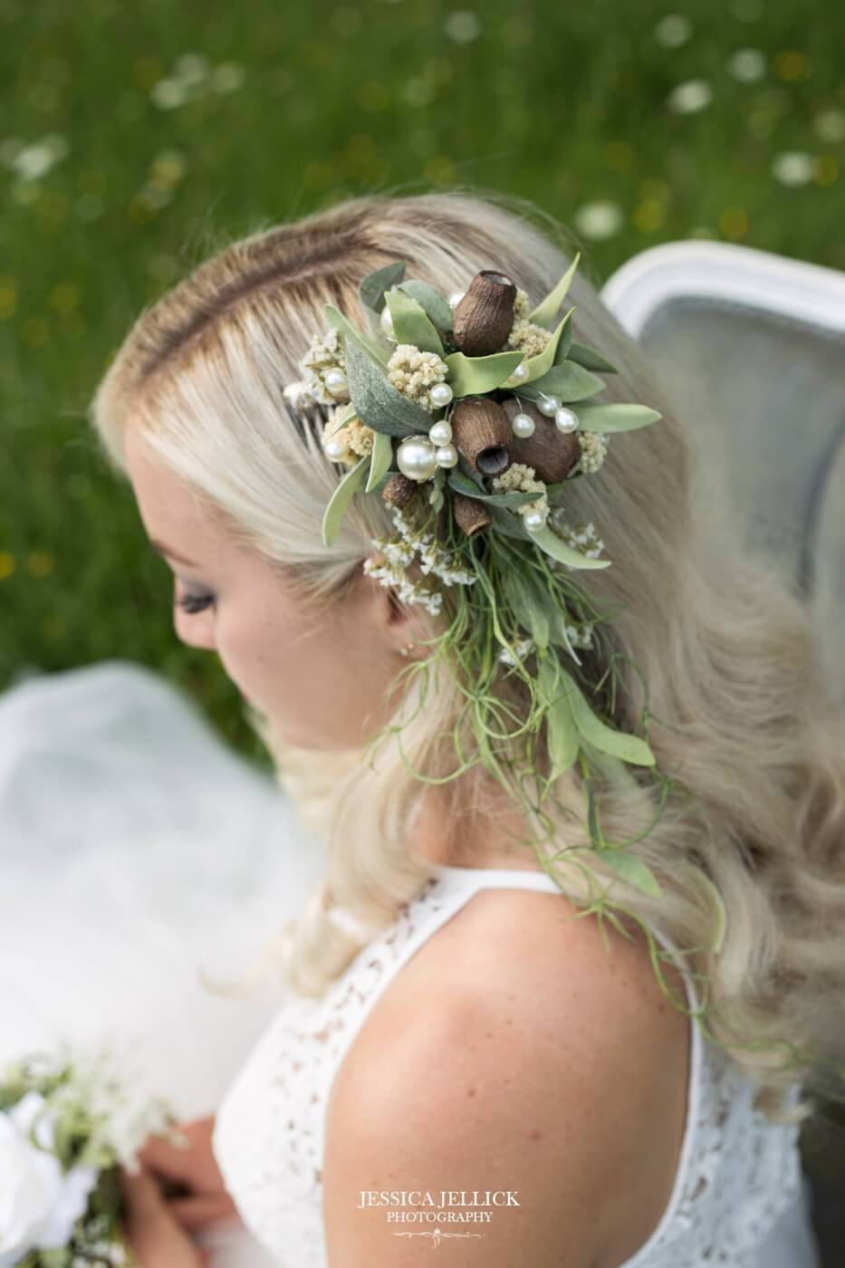 Silk Draping Hair Flowers 55 Keepsake Bouquets